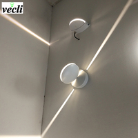 outdoor Waterproof 8w led wall lamp, surface mounted led wall sconce liner wall light Aisle Bedroom Decorative Lighting 85 265V