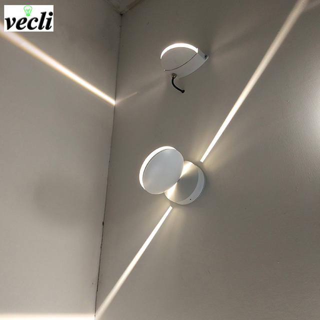 outdoor Waterproof 8w led wall lamp, surface mounted led wall sconce liner wall light Aisle Bedroom Decorative Lighting 85-265V