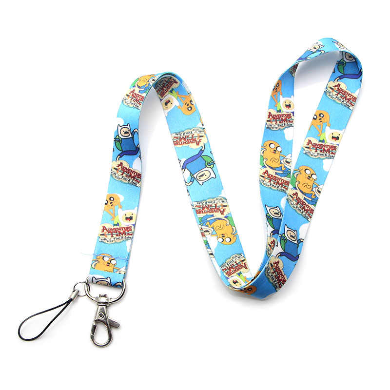 R104 Cute Adventure Time with Finn and Jake lanyard neckband key ID card mobile phone with badge holder DIY lanyard