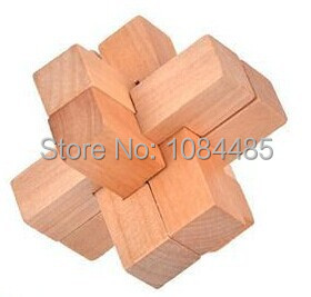 4PCS / Lot 3D Wooden Puzzle IQ Brain Teaser Interlocking Burr - Puslespill - Bilde 4