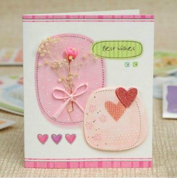 1pc/lot Size: 7.5x9cm Beautiful mini greeting card with ...