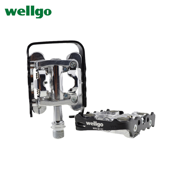 Wellgo Pedal Wpd M17c Bicycle Pedals Mountain Bike Two Sided Dual