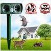 Free Shipping Wholesale 4 V 25kHz Solar Powered Ultrasonic Cat Repeller Chaser Garden Animal Scarer Deterrent