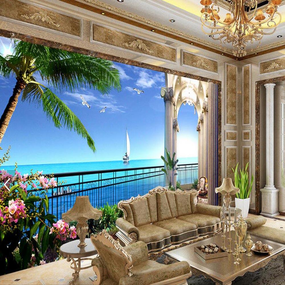 Abstract Wallpaper Rolls 3d Wall Murals Living Room Bedroom Sea Background Wall Art Decor 3d ...