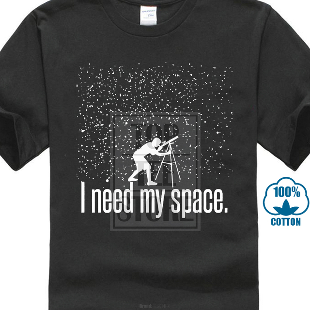 9d9ddc58f Formal Shirts O Neck Short Sleeve Broadcloth Mens I Need My Space Funny  Astronomy Physics Science. Mouse over to ...