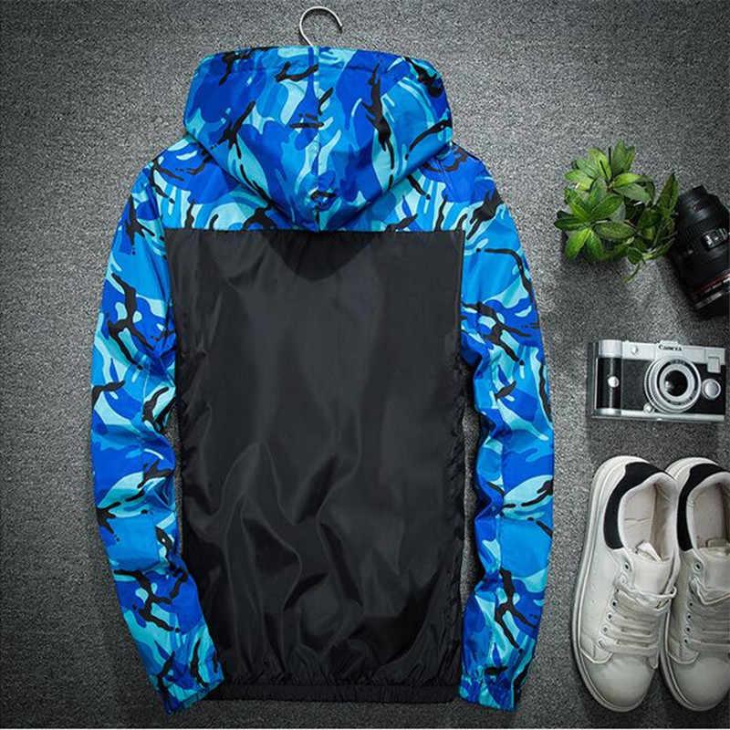 迷彩パッチワークジャケット男性ウインドブレーカーカジュアルジャケットヒップホップフード付きコートジップパーカー男性秋特大ブランド服