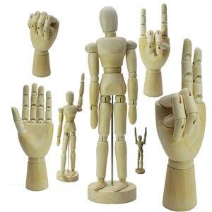 Model Decoration Wooden Dolls Joint Hand Miniature Kawaii Craft Artist Movable Limbs Wooden Figurines Model Mannequin Art Sketch