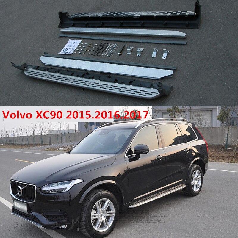 XC90 marchepieds Auto côté marchepied pédales pour Volvo XC90 2015.2016.haute qualité nouveaux modèles originaux barres Nerf