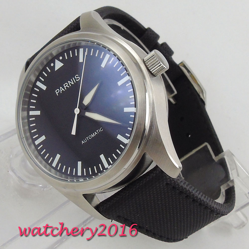NEW Arrive 42mm parnis Black Dial Brushed Bezel Stainless steel Case Luxury Brand Automatic Movement mens WatchNEW Arrive 42mm parnis Black Dial Brushed Bezel Stainless steel Case Luxury Brand Automatic Movement mens Watch