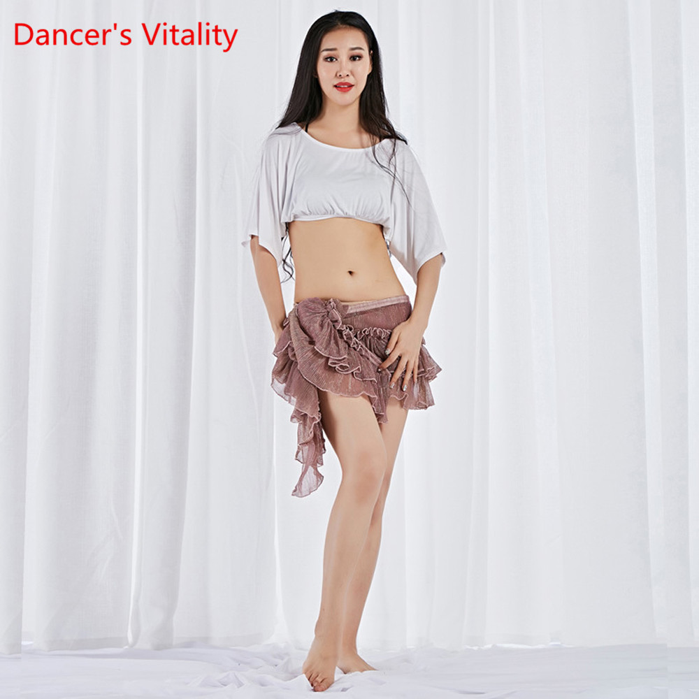 New Belly Dance Clothes For Dancing Class Wear Modal Clothes Bat Sleeve Belly Dancing Costume 2 Pieces Top And Hip Scarf