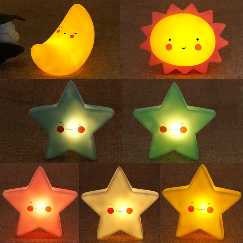 YAM Creative LED Night Baby Light Star Lamp Kids Room Decor Cute Birthday Toy Gift Include Battery