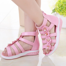 2017 children sandals Girls Princess Shoes girl sandals new summer students Rome foreign trade wind wedge sandals