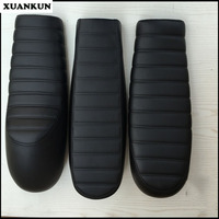XUANKUN Cafe Racer Retro Motorcycle Modified Short Cushion Hump Seat Flat Seat Cushion Waterproof