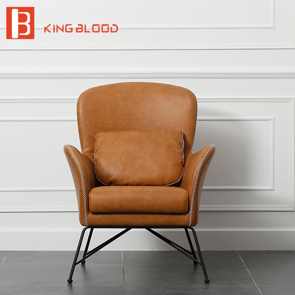 Groovy Relaxing Single Seater Orange Pu Leather Leisure Sofa Chair Ocoug Best Dining Table And Chair Ideas Images Ocougorg