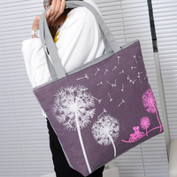 Martin Cloth Casual Girls Shoulder Bag Dream Cartoon Dandelion Shopping Bag Simple HandbagFashion Ladies Shoulder Shopping