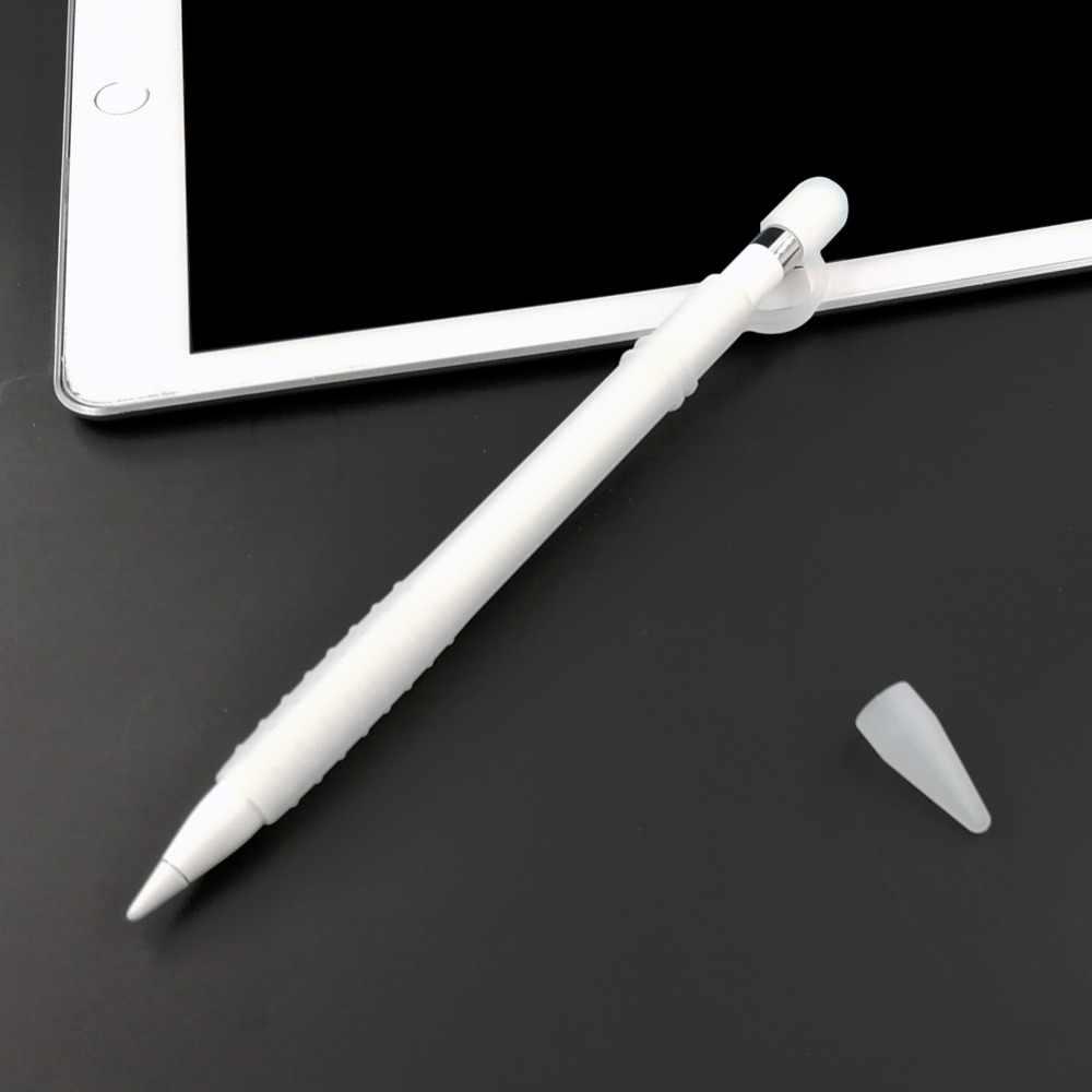خفيفة الوزن قلم من السيليكون كامل الحال بالنسبة أبل ستايلس قلم رصاص ، قابل للغسل كم لباد برو 12.9 10.5 9.7 بوصة غطاء طرف غطاء حامل