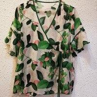 New 100% silk green shirts
