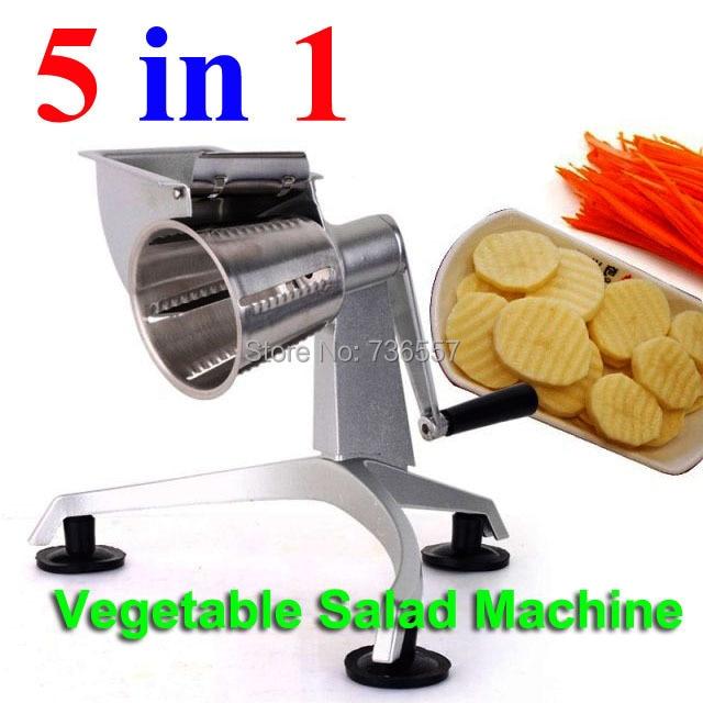 Hand multi-vegetable Salad master fruit machine, salad slicer, shred vegetables slicing machine high quality automatic electric fruit salad slicers cutt shredder machine vegetable cutter fruit onion slicer shredder