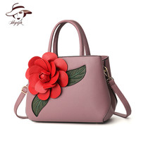 2019 new Sac a Main Femme Color Flowers Women's Tote Leather Clutch Bag Small for Ladies Handbags Brand Women Messenger Bags