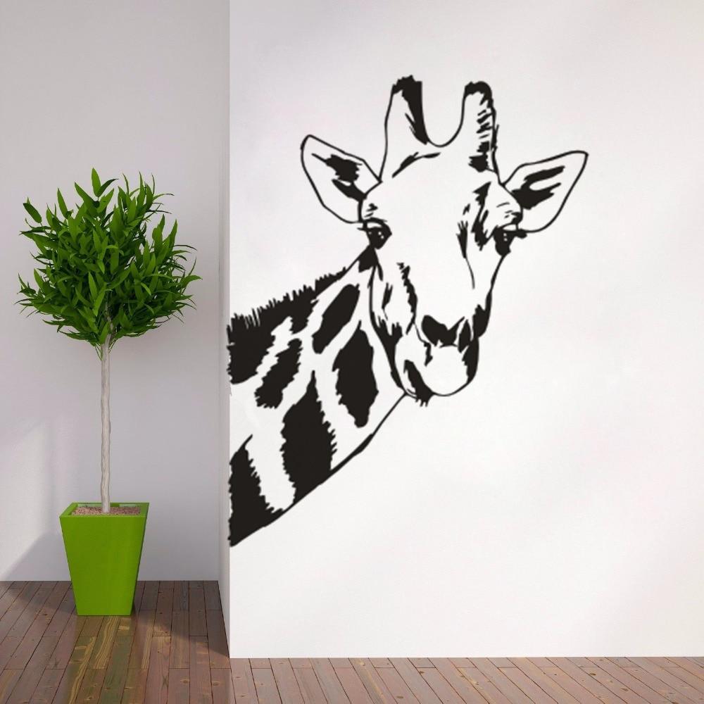 Toilettes Stickers girafe drôle Safari Animaux Smashed Decal 3D art Trou Salle S512
