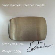 Solide en acier inoxydable bande vierge boucles 7.9   4.9 cm 106 g couleur  argent métal pour 4 cm large ceinture mode hommes fem. bf4b4190192
