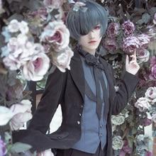 Anime Black Butler cosplay sebas tian Ciel Phantomhive Cosplay Costume devil uniforms black suit A
