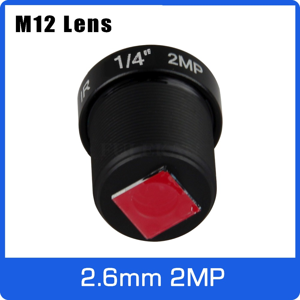 2Megapixel IR Filter M12 Fixed 1/4 inch 2.6mm 120 Wide Angle Lens For Drive Recorder or Video Doorbell Free Shipping