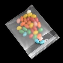 10*10+3cm Self Adhesive Frostic Transparent Plastic Bag Candy Biscuit Package Bags Matte Clear Packaging 500 Pieces