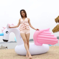 250cm 98inch Giant Pegasus Swimming Float Pool Inflatable Unicorn Ride On Floats Colorful Mattress Fun Beach Toys Boia Piscina