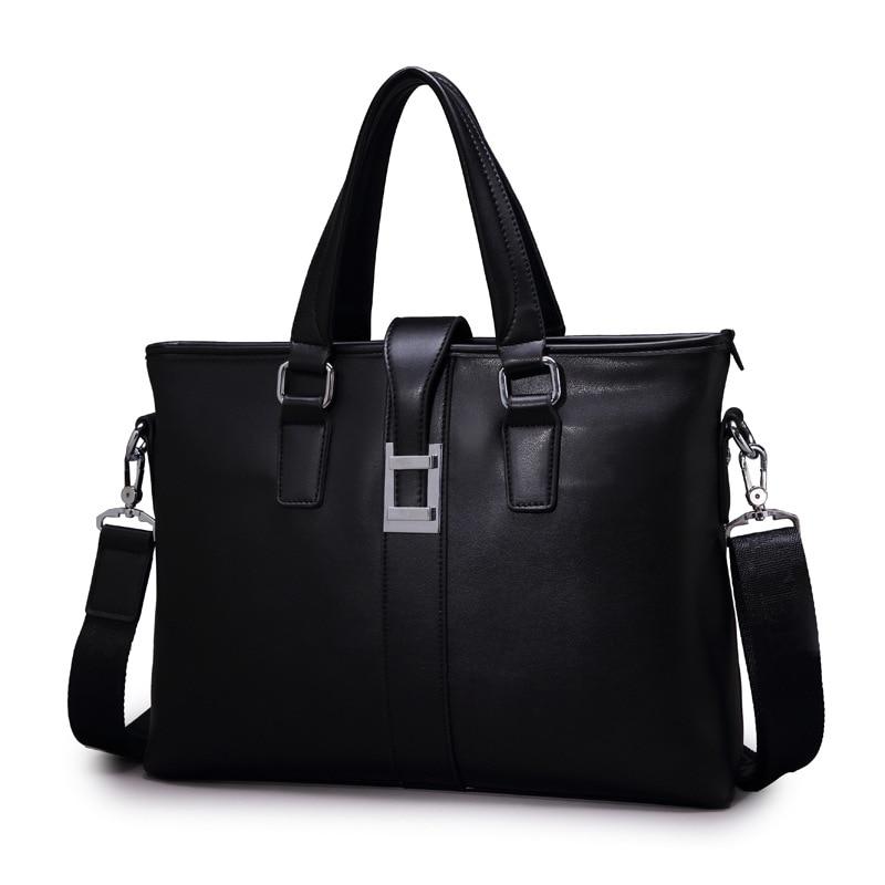 Men's Business Briefcase Bag Fashion Handbag Shoulder Messenger Bag Large Capacity Leather Men Business Briefcase Bag