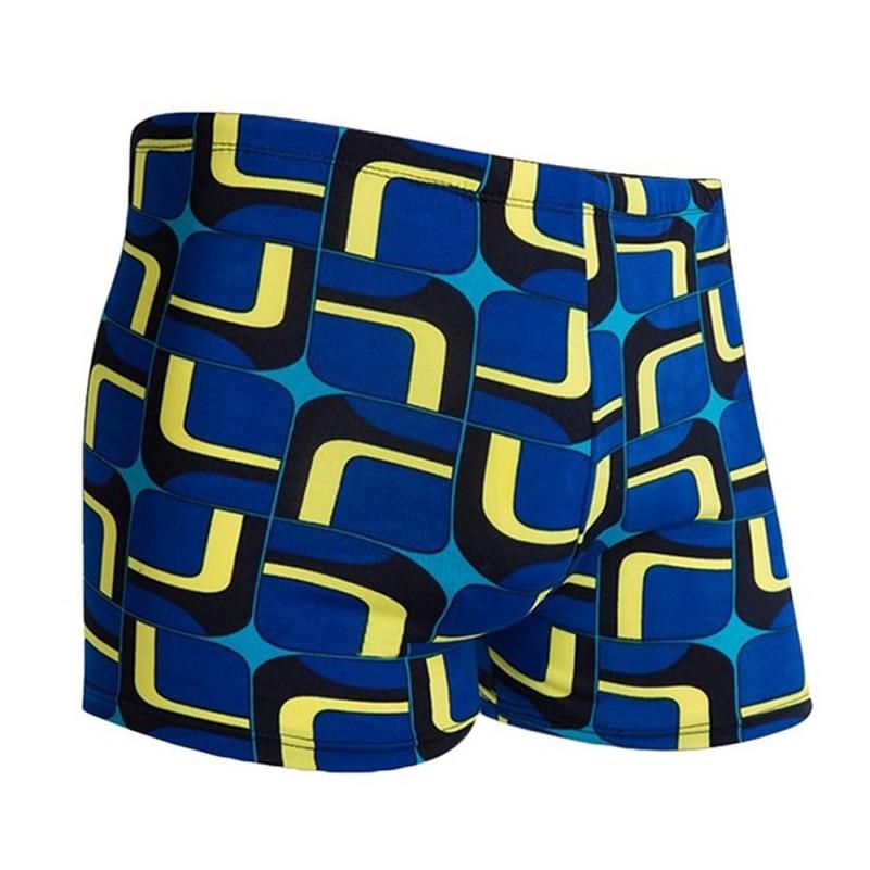 Mens Swimwear Men Trunks Printed Drawstring Lightweight Breathable Swimming Surfing Shorts Swimwear Sportswear(China)