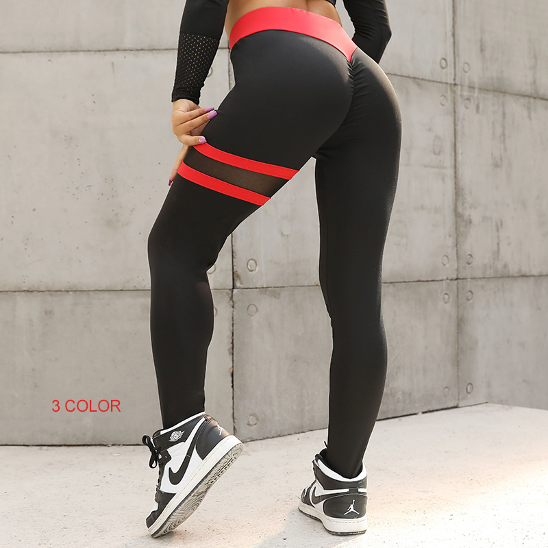 CHRLEISURE Women Fitness   Leggings   Mujer Push Up   Legging   for women Mesh High Waist Workout   Legging   pants 3Color