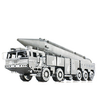 Picture Kingdom 3D Metal Nano Puzzle DF 21 Ballistic Missile Truck Model Kits PJ 201 DIY 3D Laser Cut Assemble Jigsaw Toys