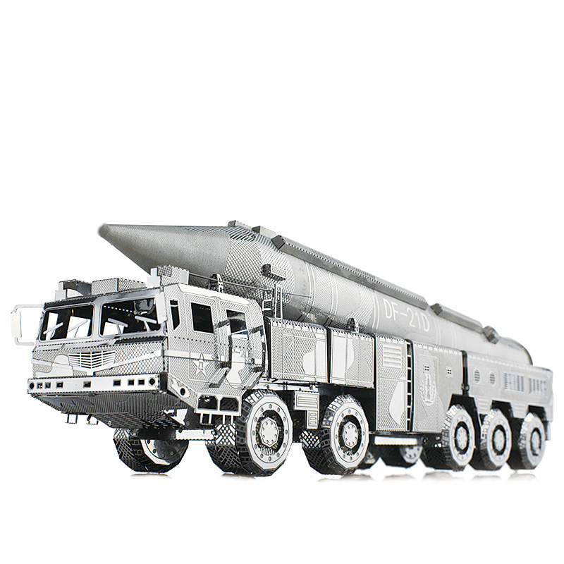 Picture Kingdom 3D Metal Nano Puzzle DF-21 Ballistic Missile Truck Model Kits PJ-199 DIY 3D Laser Cut Assemble Jigsaw Toys mirza muhammad masood akbar indian ballistic missile defence programme