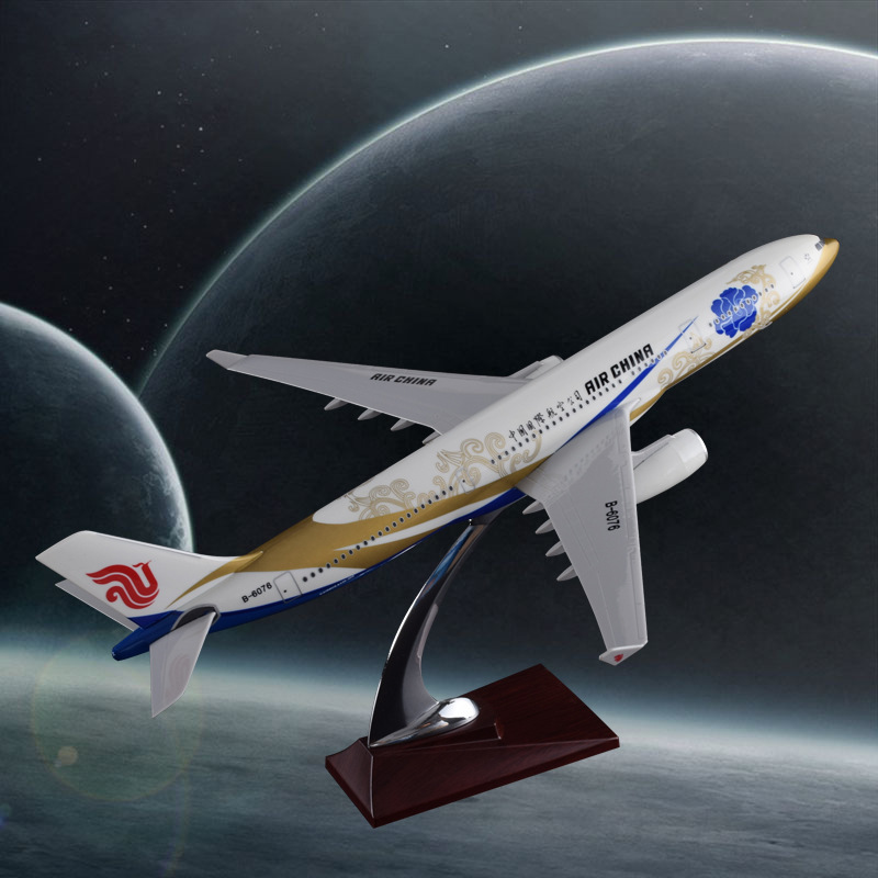 40cm Resin A330 Zichen Plane Model Air China Goldchen Airlines Airplane Airways Model Airbus International A330 Aviation Model