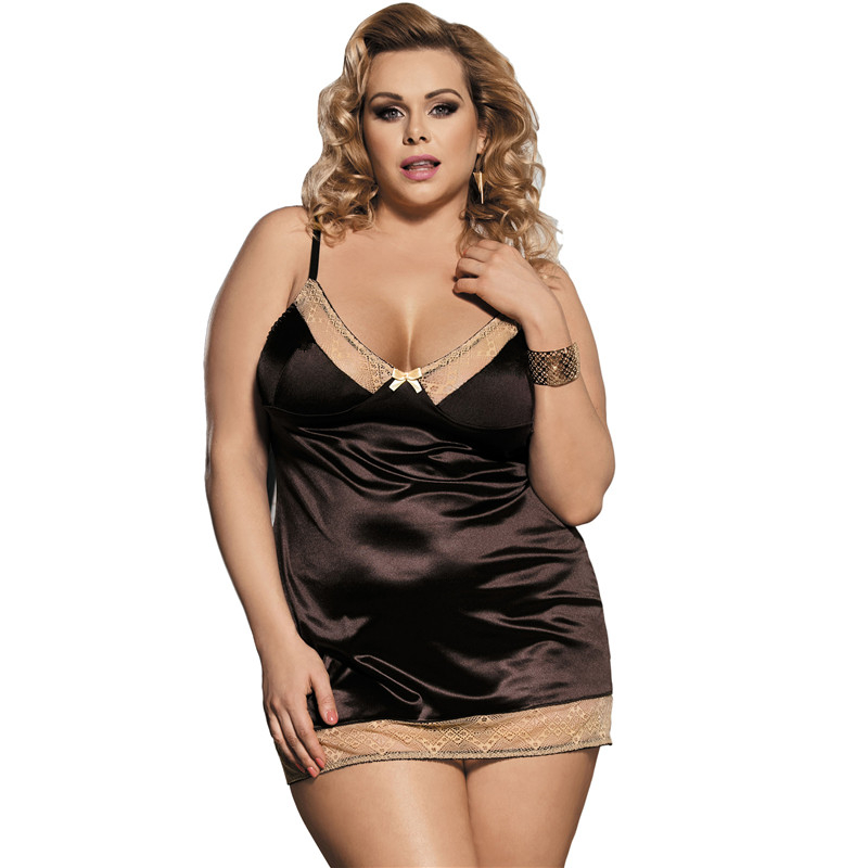 Babydoll Plus Size 5XL Langerie Sexy Erotic Sexi Women Lingerie With G string R80352 Robe Sexy Erotique Dessous Sex Clothes