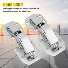 2Pcs No-Drilling Hinge for Cupboard Cabinet Door Hinge Hole Bridge Shaped Spring hinge Door Hardware Kit charniere meuble bois stainless steel no drilling hole cabinet hinge bridge shaped hinge buffer cabinet cupboard door hinges furniture hardware