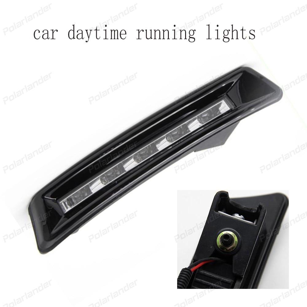 1 pair car styling led 4 lines Daytime driving Running Fog Light DRL For T/oyota P/rado 2700 FJ150 LC150 2013-2015