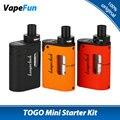 Kangertech Original TOGO Mini Kit 1600 mAh 3.8 ml Tanque w/simétrica flujo de aire 5 indicador led de batería kanger togo mini vaping Kit