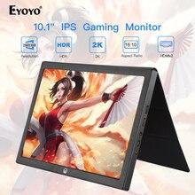 """Eyoyo 10 """"Inch Chơi Game Cầm Tay Màn Hình IPS LCD Màn Hình Di Động Màn Hình HDMI PS4 Xbox Máy Tính Laptop Quả Mâm Xôi 3 Ordenador cổng Til"""