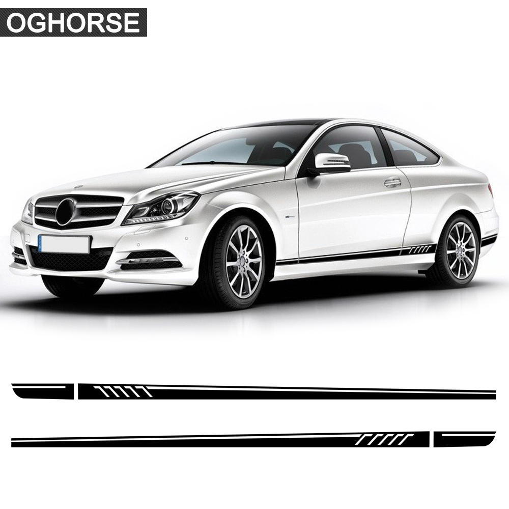 507 Style Door Side Stripes Vinyl Decal Sticker para Mercedes Benz S204 W204 C63 Coupe C180 C200 C250 C300 C230 AMG Accesorios