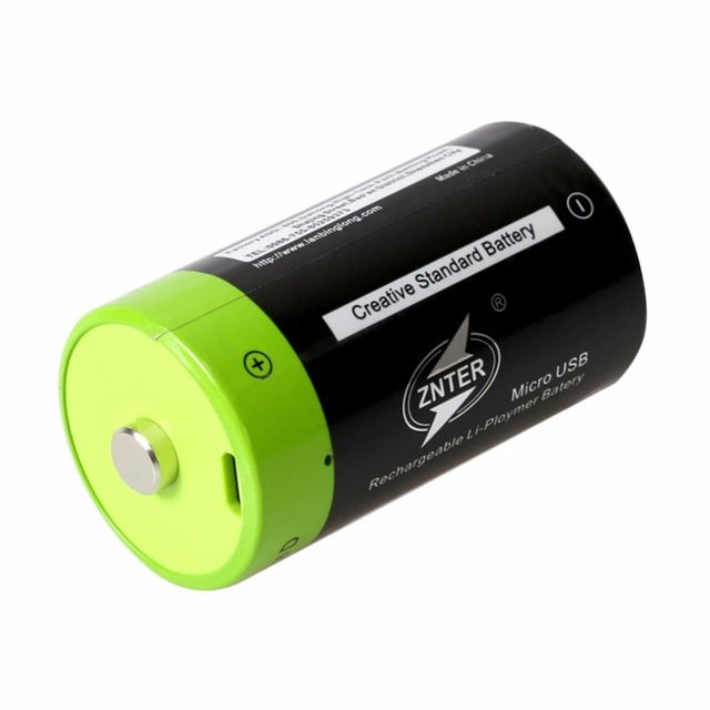 ZNTER 1.5V 4000mAh Battery Micro USB Rechargeable Batteries D Lipo LR20 Battery For RC Camera Drone Accessories 5