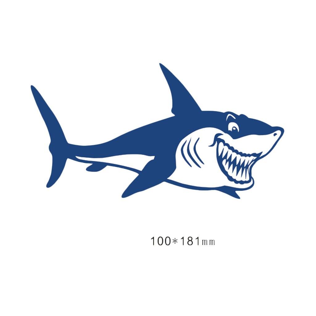 Image 2 - 1 Pair Cute & Funny Shark Decals Vinyl Shark Emblem Badge Sticker For Automobiles Motorcycle Boat Canoe Computer Etc Waterproof-in Decals & Stickers from Automobiles & Motorcycles