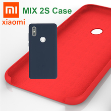 100% Original xiaomi mi mix 2S case comfortable Soft Silicone cover Hard back shockproof Xiaomi Mix 2s mix2s case Top Quality