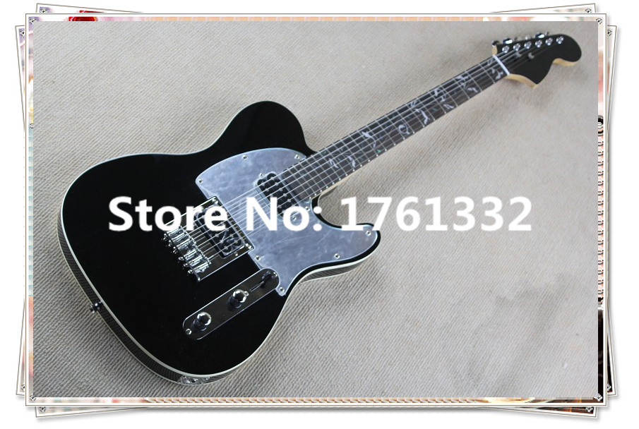 2015 hot sale factory custom black electric guitar with 2 open humbucking and mirror surface. Black Bedroom Furniture Sets. Home Design Ideas
