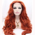 Wine Red Lace Front Wig Laco Dianteira Penruca Half Handmade Long Natural Wavy Synthetic Heat Resistant Fiber Hair Full Wigs