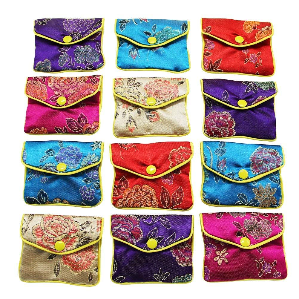 Женский шелковый кошелек, маленькая Подарочная сумка из вышитой парчи