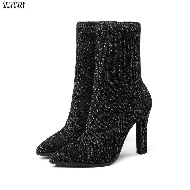 New arrival autumn 2018 women's boots fashionable high-heeled women's boots European comfortable women's shoes size 34-43