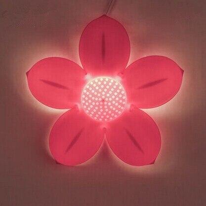 aliexpress koop acryl roze bloem leuke creatieve led wandlamp