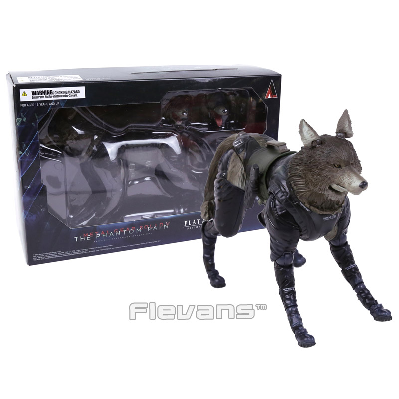 ФОТО Play Arts KAI Metal Gear Solid V The Phantom Pain D-DOG PVC Action Figure Collectible Model Toy